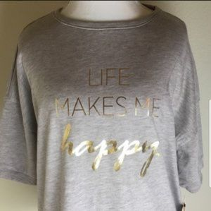 Liz Claiborne Life Makes Me Happy top